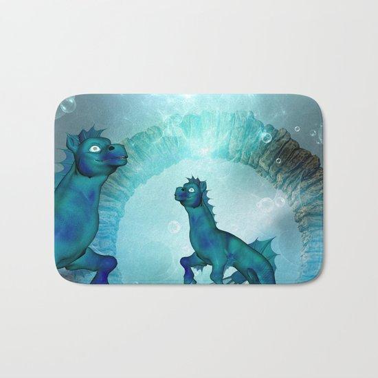 Fantasy seahorse Bath Mat