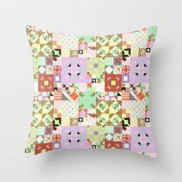 Geometric Quilt Pattern Throw Pillow