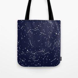 Constellation Map - Indigo Tote Bag