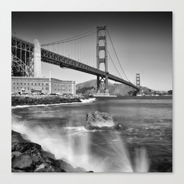 Golden Gate Bridge with breakers Canvas Print
