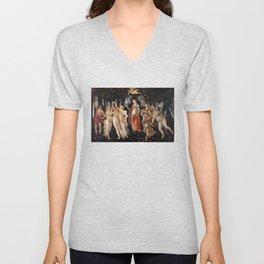 La Primavera - Allegory Of Spring - Sandro Botticelli Unisex V-Neck