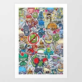 Kampu Kids Art Print