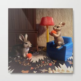 The Rabbits & The Evening Oranges Metal Print