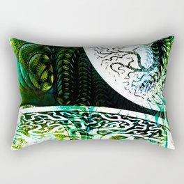 Opposition Green Inversion Rectangular Pillow