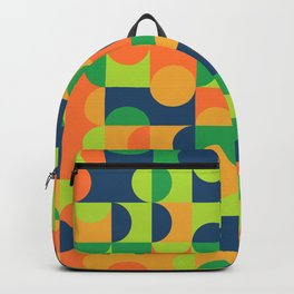 Geometric Abstract Colorful Art Retro Pattern Backpack