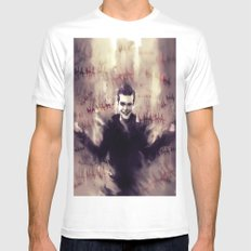 Jerome Valeska - Gotham White SMALL Mens Fitted Tee