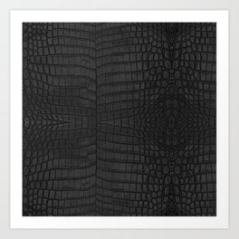 Black Crocodile Leather Print Art Print