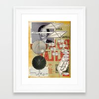 aperture Framed Art Prints featuring Red Scanning Aperture by Ira Carter