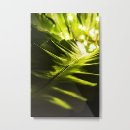 The Night Garden Green Metal Print