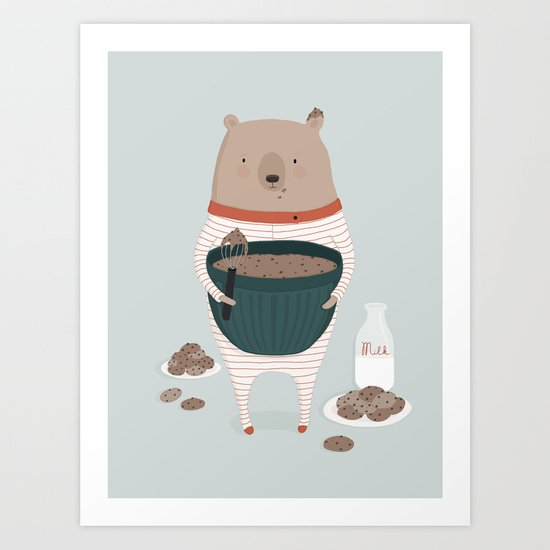 Maxwell's Midnight Snack Art Print