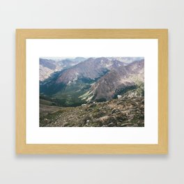 Mountain Goats on Mt. Massive Framed Art Print