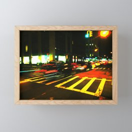 Night in Manhattan Framed Mini Art Print