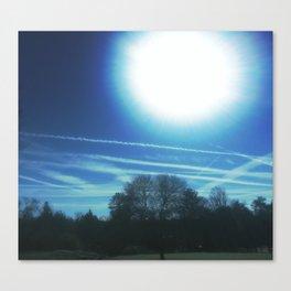 a midday chem sky Canvas Print