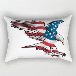 Patriotic Flying American Flag Eagle Rectangular Pillow