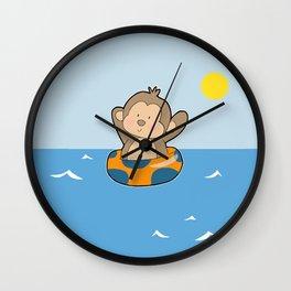 Summer Monkey Wall Clock