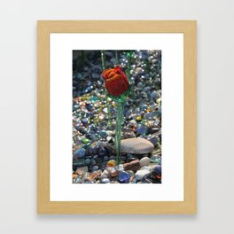 Glass Rose Framed Art Print