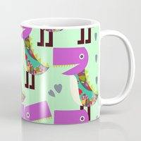 monsters Mugs featuring Monsters by luizavictoryaPatterns