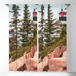 Maine Lighthouse Acadia National Park Bass Harbor Print Blackout Curtain