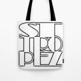 St. Tropez white text with contour Tote Bag