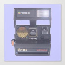 polaroids camera autofocus sun 660 Canvas Print