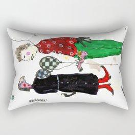 Two Balloons Por Favor Rectangular Pillow