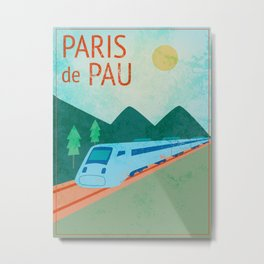 Paris to Pau Metal Print