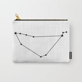 Capricorn Star Sign Black & White Carry-All Pouch