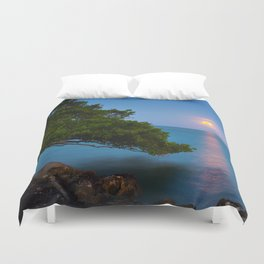 Harvest Moon - The Florida Keys Duvet Cover