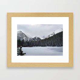 Bear Lake I - Blue Hue Framed Art Print