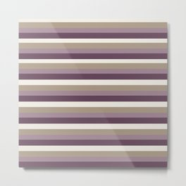 Stripes in Magenta, Lavender and Cream Metal Print