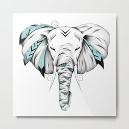 Poetic Elephant Metal Print