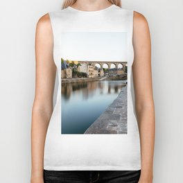 The Habour of  Dinan in France Biker Tank