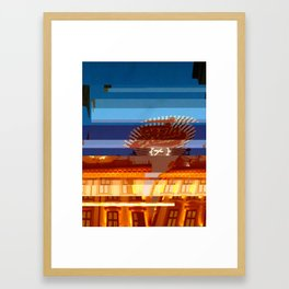 Freia Glitch Framed Art Print