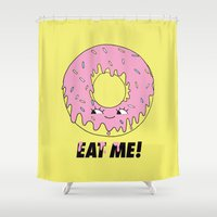 donut Shower Curtains featuring Donut by Eduardo Doreni
