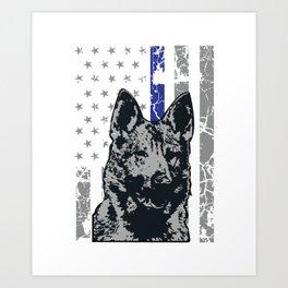 K9 police dog beagle police dog Art Print