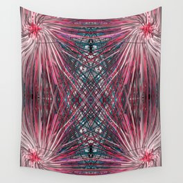 Pink Pom Poms Wall Tapestry