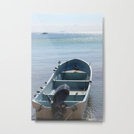 Let's jump into this boat and never look back Metal Print
