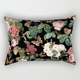 Floral and Butterflies Rectangular Pillow
