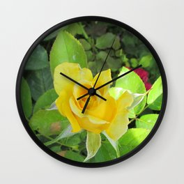 Rosa Amarilla Wall Clock