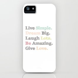 Inspiration Typography Quote Words Pastel  iPhone Case