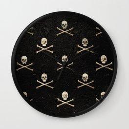 Skulls & Crossbones - Square Wall Clock