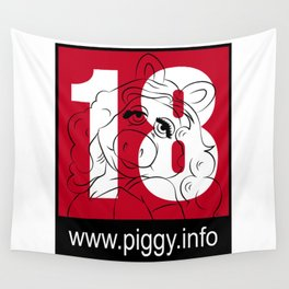 Piggy 18 Wall Tapestry