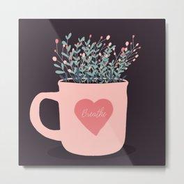 Cup of flowers Metal Print