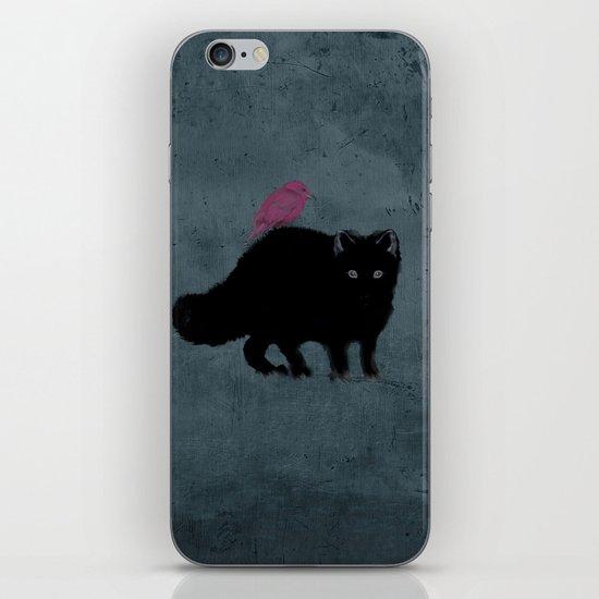 Cat and bird friends! iPhone & iPod Skin