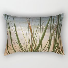 Behind the Grass (Lake Michigan Shore) Rectangular Pillow