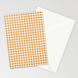 Mustard gingham Stationery Cards