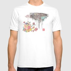 BLOSSOMING MEDIUM Mens Fitted Tee White