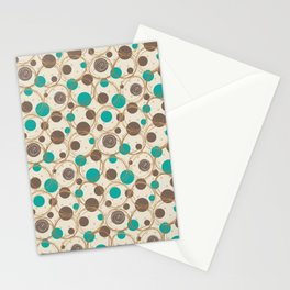 Brown and turquoise Stationery Cards
