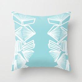 Bookworm - Blue Throw Pillow