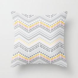 Dash & Dot - Neapolitan Chevron Throw Pillow